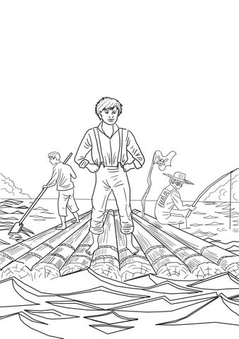 The Adventures Of Tom Sawyer Coloring Page From Tom Sawyer And