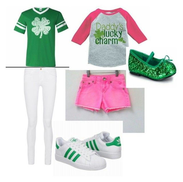 """""""Mom & Daughter St.patrick's day outfit"""" by richgalty ❤ liked on Polyvore featuring Frame Denim"""