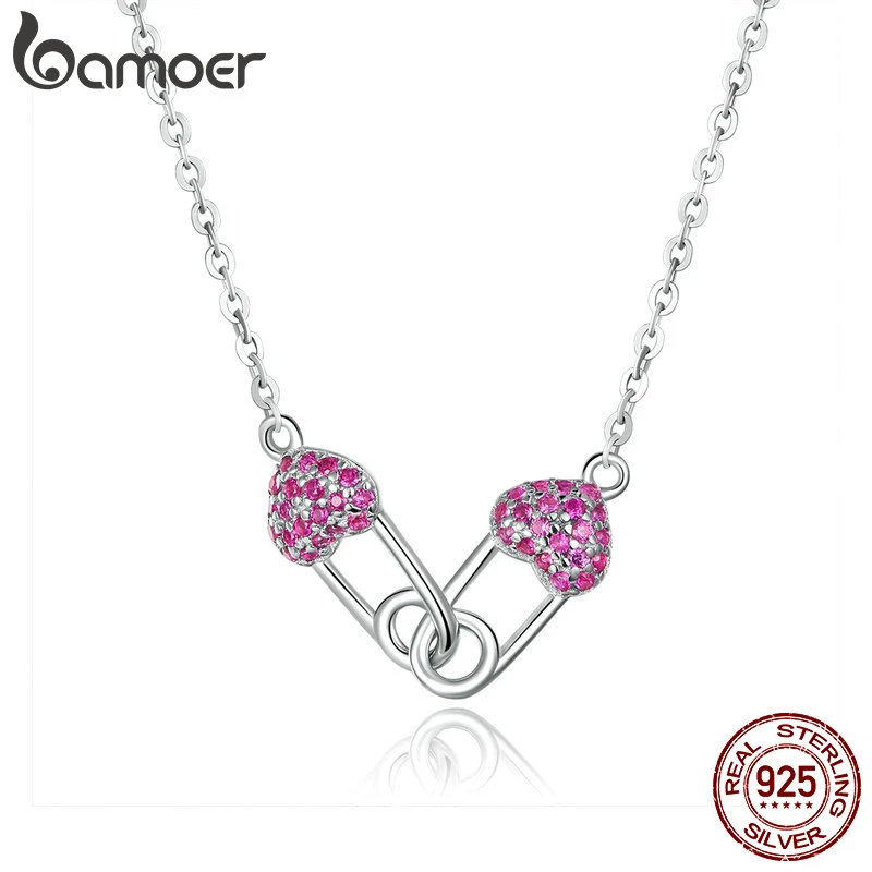 Sterling Silver CZ Hearts Pin