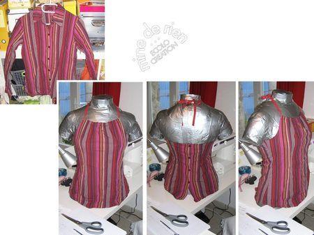 Vieille chemise transform e en joli top les boutons se retrouvent sur couture et - Idees recyclage vetements ...