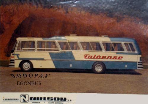 Ônibus década de 70 empresa Taioense sediada em Rio do Sul - Santa Catarina - Brasil