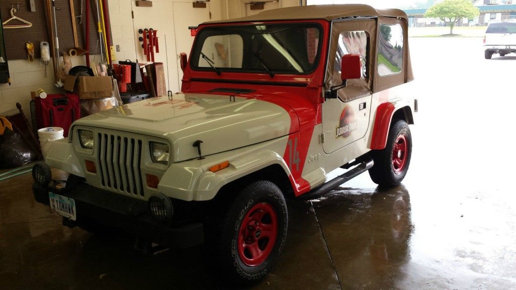 1992 Jeep Wrangler Jurassic Park Jeeps For Sale Jeep Jurassic Park Jeep Jeep Wrangler