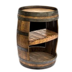 Wine Barrel Shelf Wine Barrel Decor Wine Barrel Furniture Wine Barrel