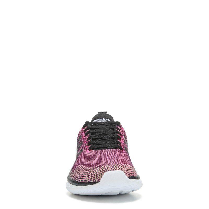 Adidas donne neo - cloudfoam super flex scarpe da corsa (nero / rosa