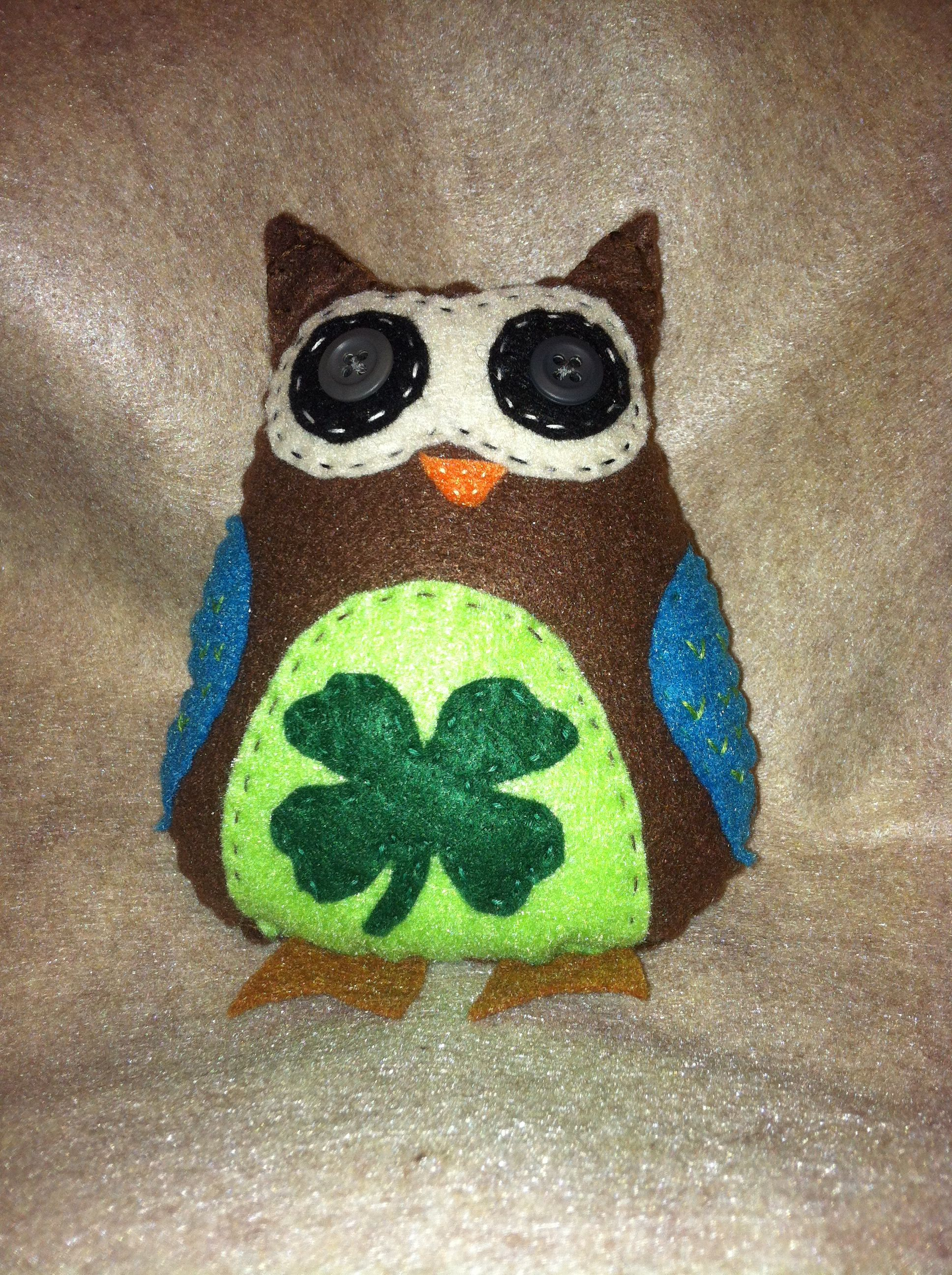 Lucky the Owl ~ Great for St. Patty's Day