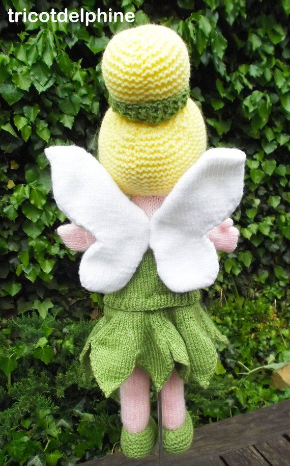 Knitting Pattern Toy Puppet Tinkerbell Amigurumi Homemade Toys