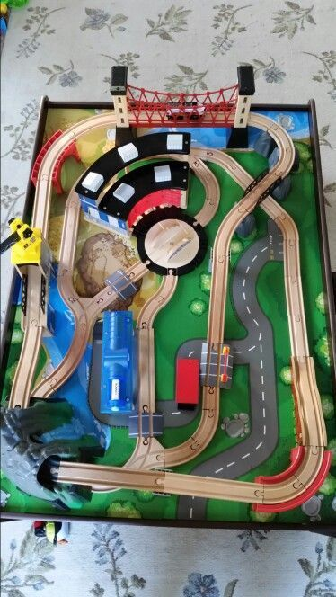 Imaginarium Mountain Rock Train Table Setup. This is how it looks ...