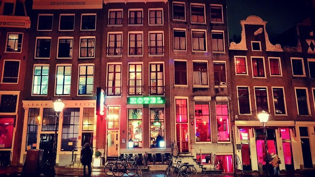 The Red Light District Of Amsterdam In One Picture Window Brothels