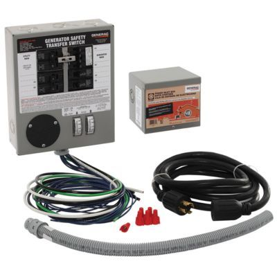 Generac 6 10 Circuit Prewired Manual Transfer Switch Kit 30 Amp 10 Ft X 24 Ft Tiny House Generator Transfer Switch Transfer Switch Electrical Switches