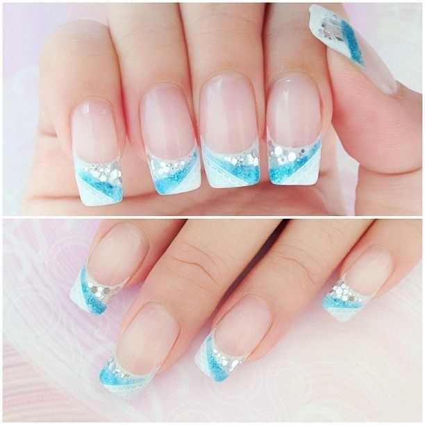 blue and white gel nails basteln pinterest nagelschere nageldesign und n gel motive. Black Bedroom Furniture Sets. Home Design Ideas