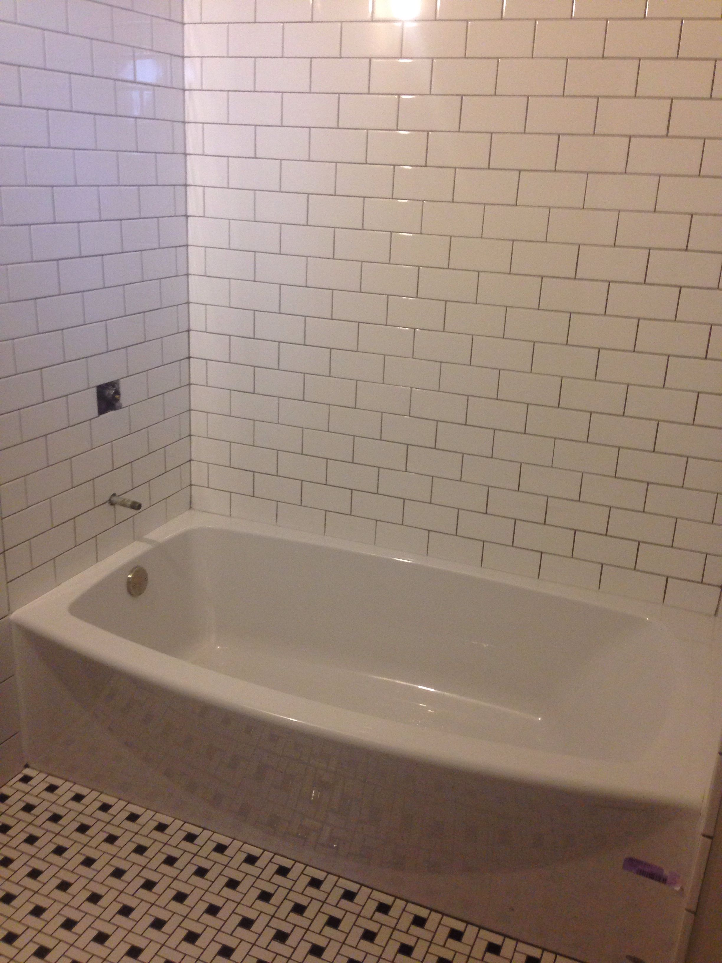Pin By Marleen Duren On Rehab Addict 3x6 White Subway Tile Bathrooms Remodel White Subway Tile