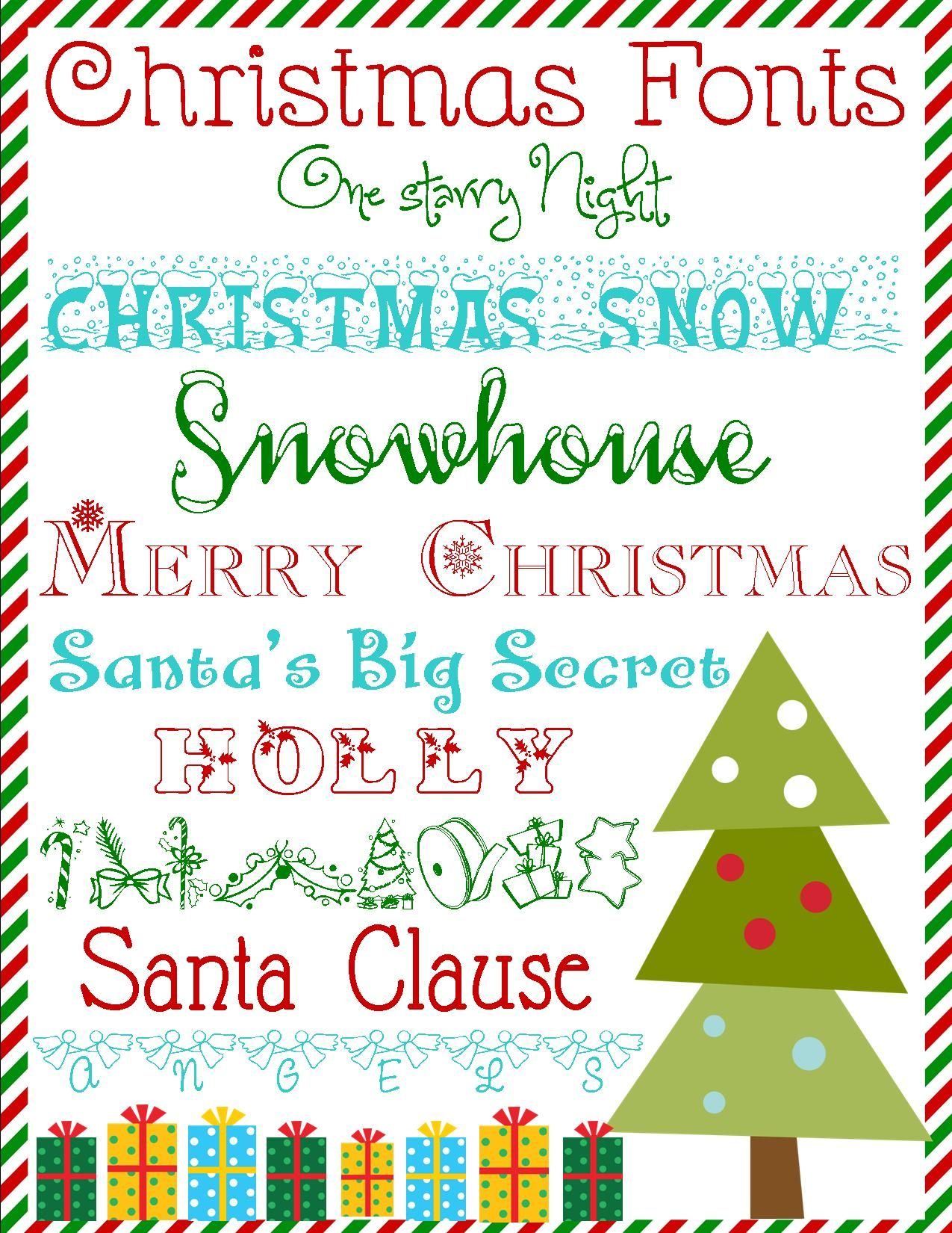 Day 6 Free Christmas Font Downloads For Day 6 of our 12