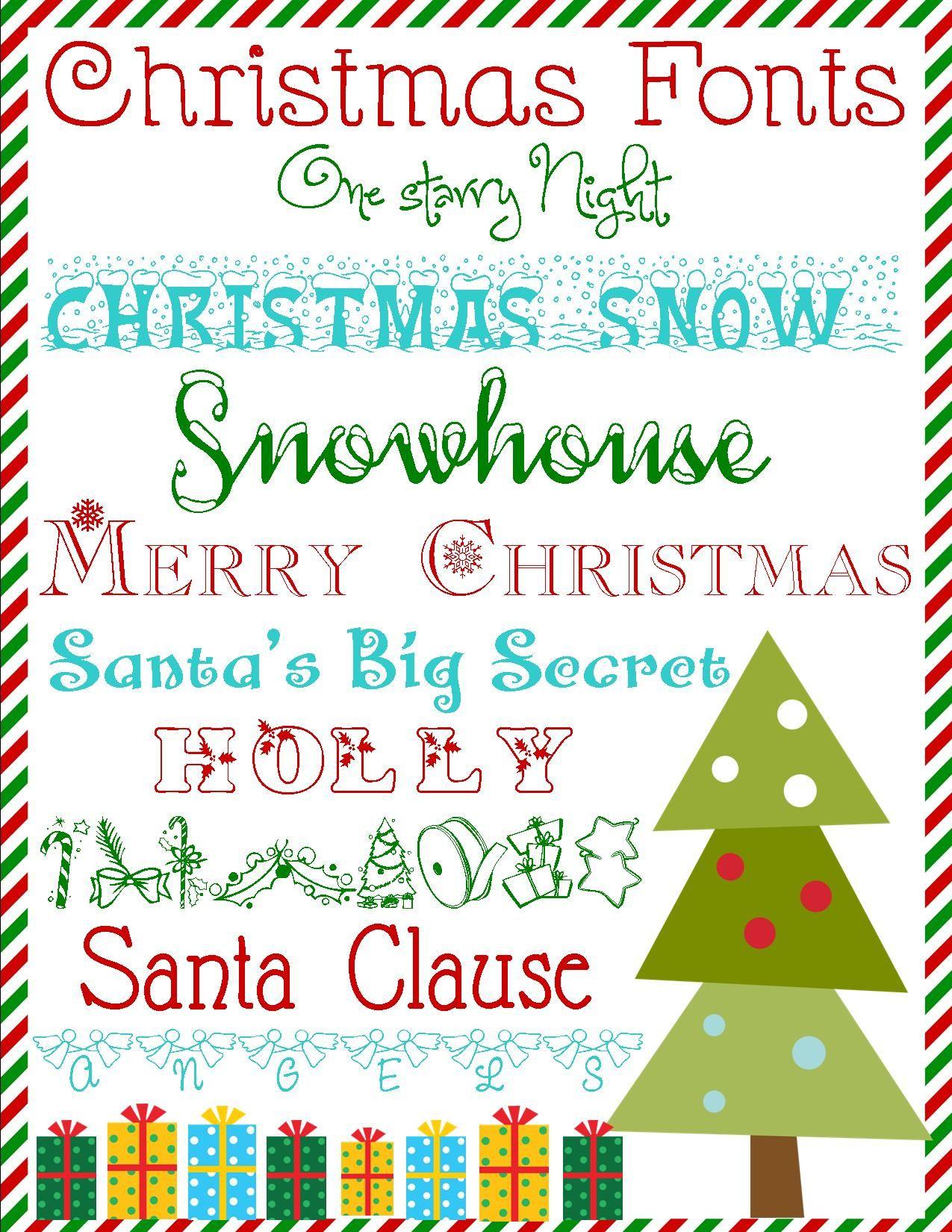 Free Christmas Fonts Christmas Fonts Free Christmas Fonts Free Christmas