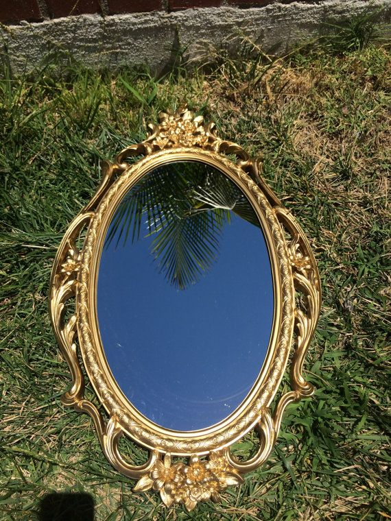 SYROCO GOLD MIRROR Oval gold mirror Large