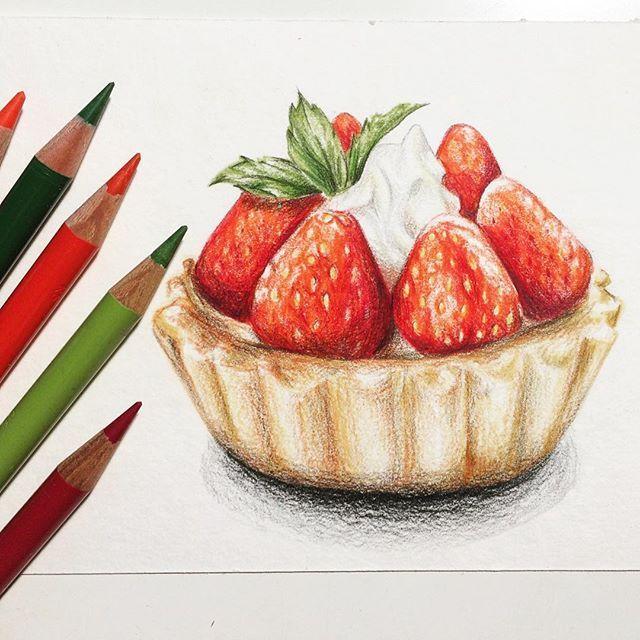 Нарисовать рисунок продукты карандашом