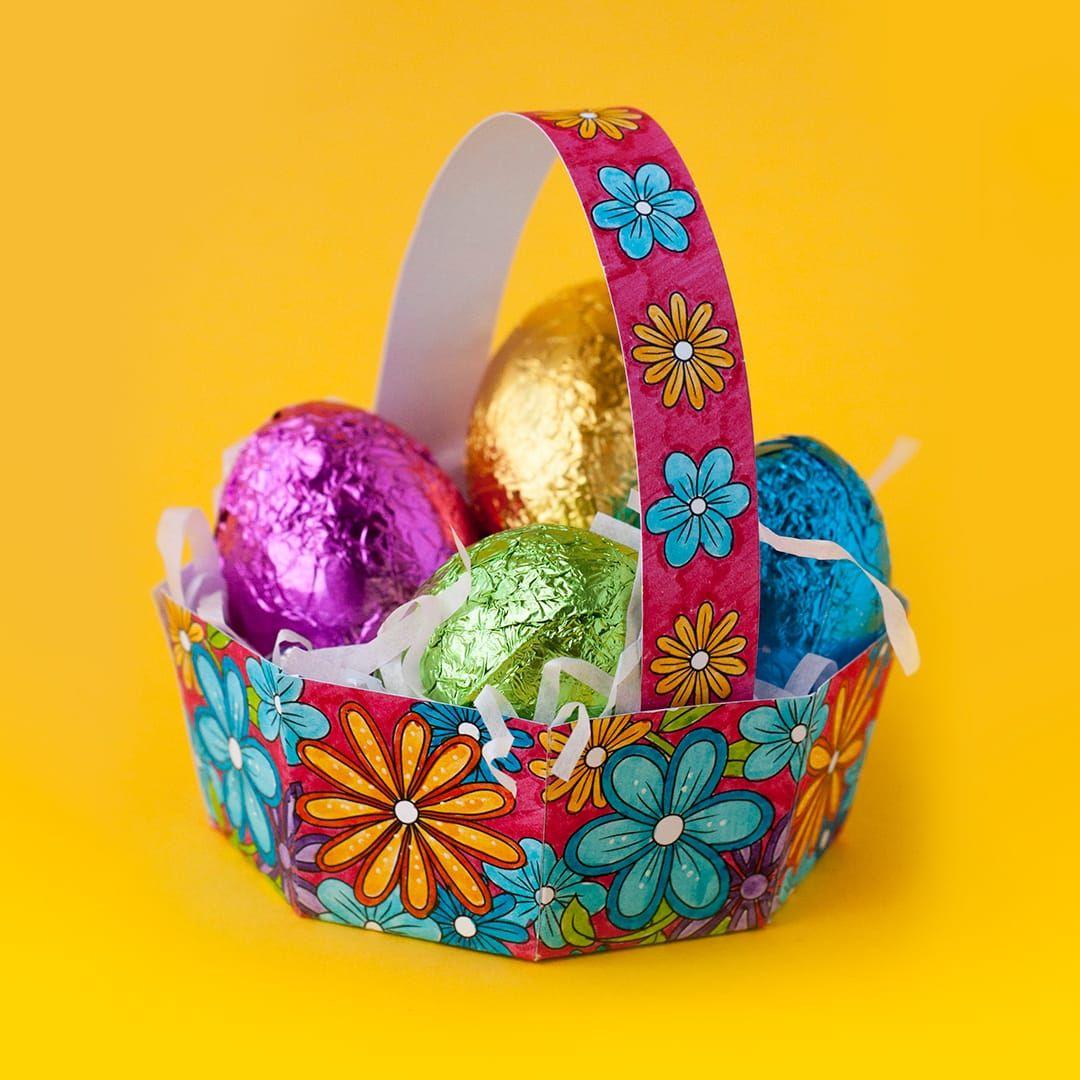 Free diy easter egg basket template   easter basket template.