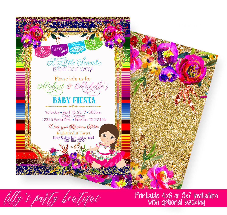 Fiesta Baby Shower Invitation, Mexican Fiesta Baby Shower Invite ...