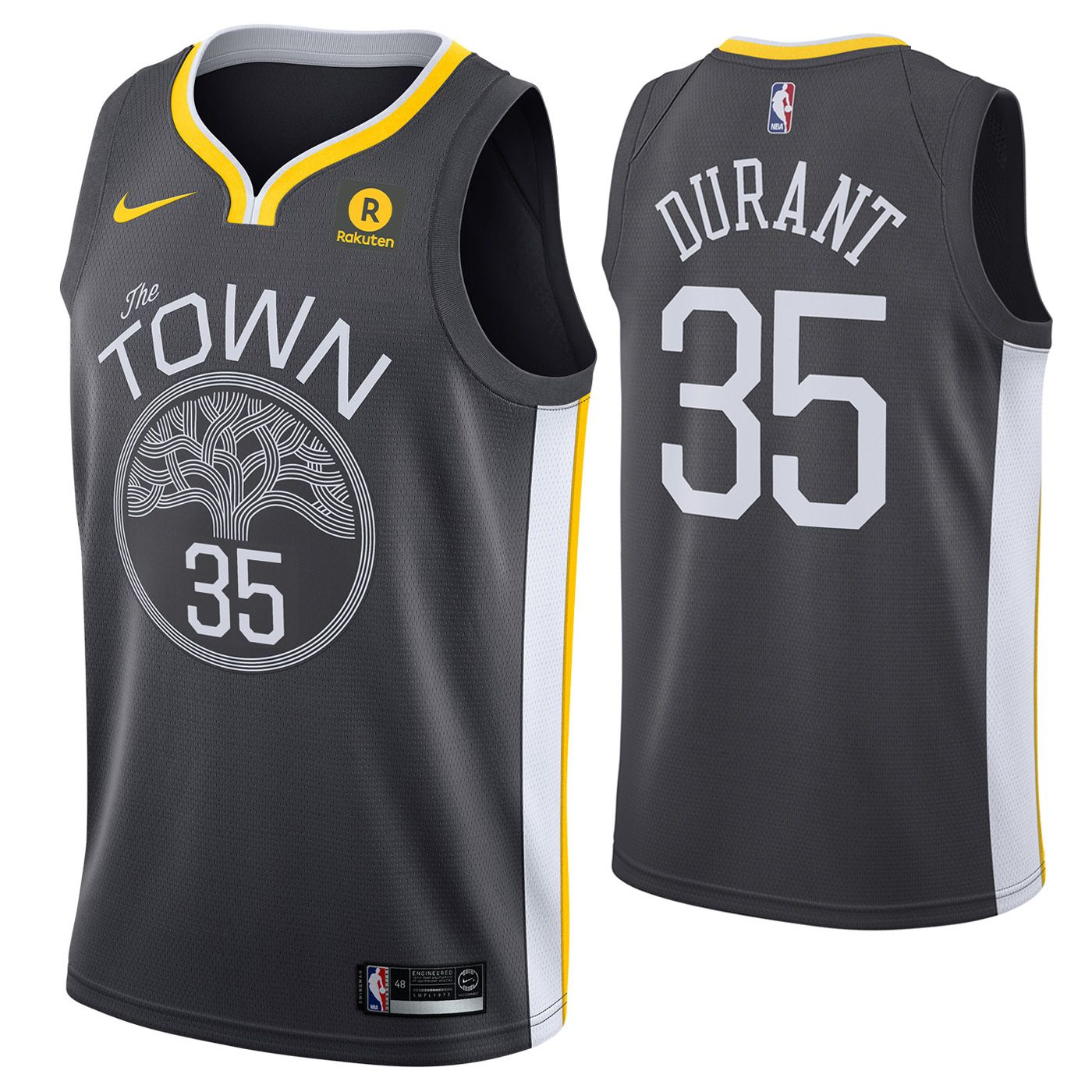buy online 5acd6 b8247 Golden State Warriors Nike Dri-FIT Men's Kevin Durant #35 ...