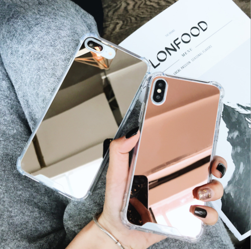 Aluminum Mirror Back Bumper Case Protective Covers For Iphone Xs Max Xr 7 8 Plus Protective Iphone Cases I Iphone 7 Cases Silicone Apple Phone Case Iphone