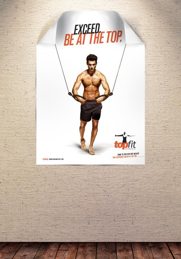 Topfit Fitness Club Cable Crossover Card Workout Gym Advertising Fitness Club