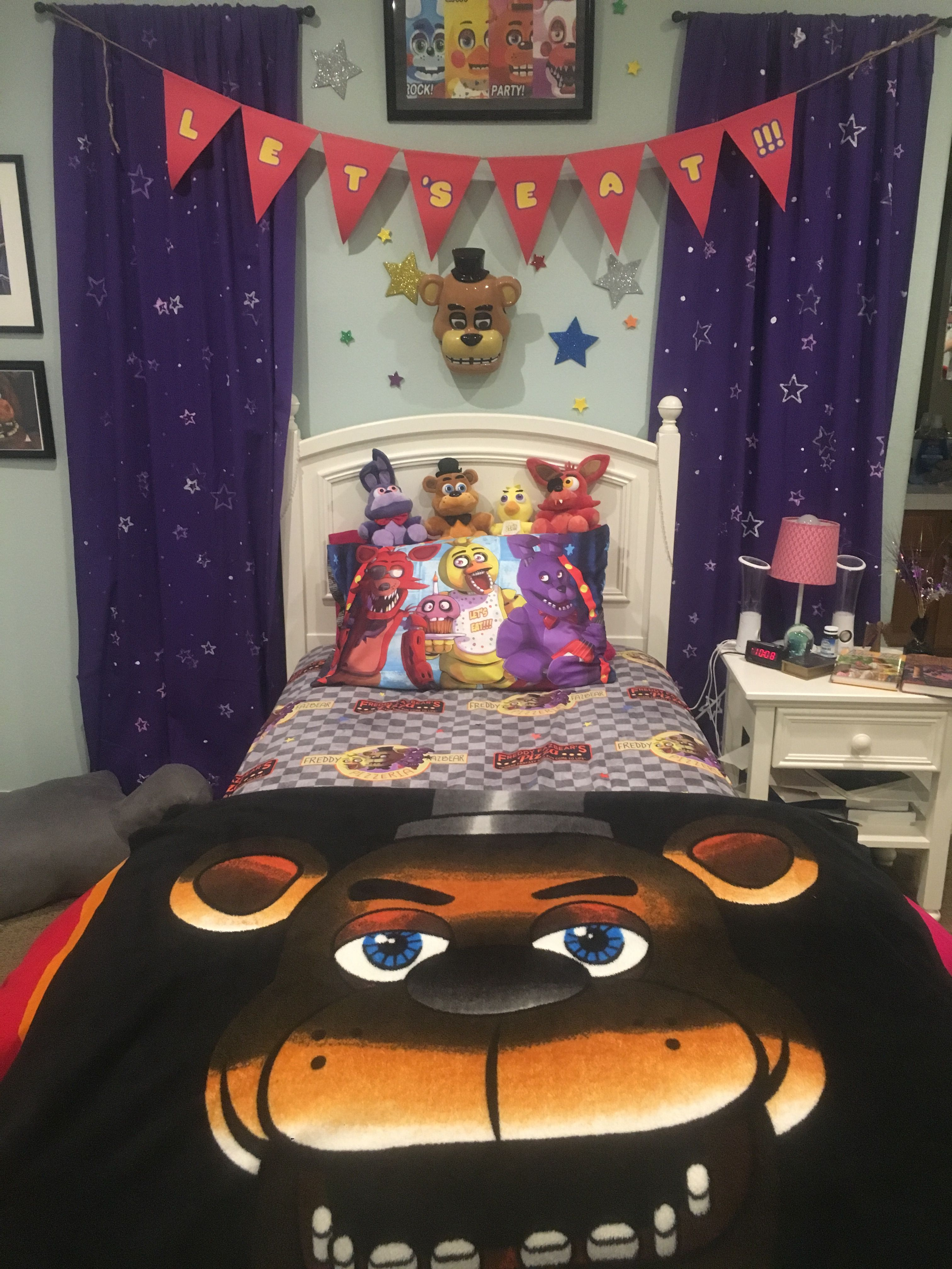 Five nights at freddys room IKEApink comforter Target