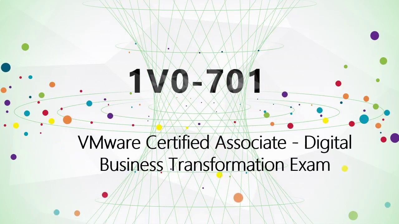 Vca Dbt Certification 1v0 701 Braindumpvmware 1v0 701 Study Guide