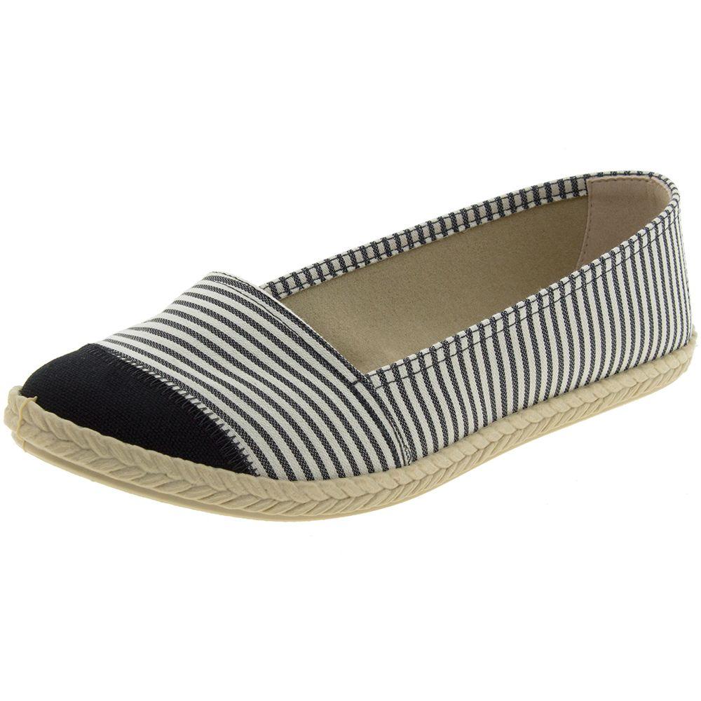 330e1fe60 Sapatilha Feminina Multi e Preto Moleca   Promoção   Clovis Calçados -  cloviscalcados