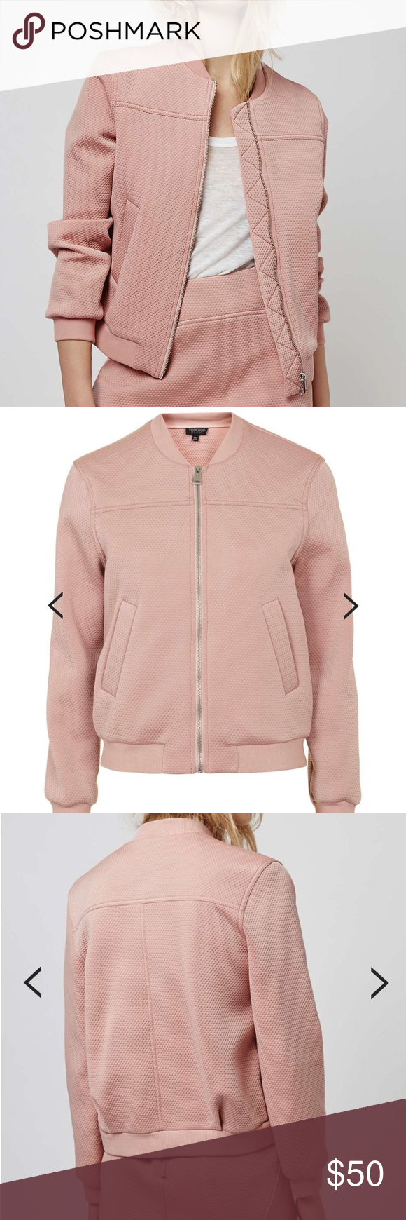 7a411140f Topshop Textured Bomber Gorgeous & fun Punch-Textured bomber Jacket ...