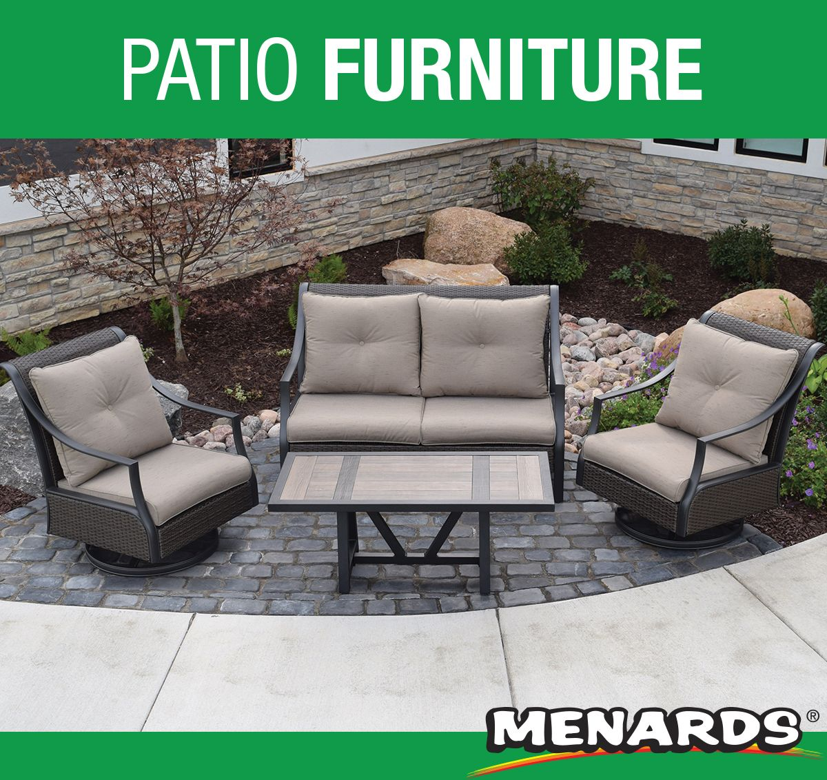 If You Like To Relax In Style The Tanner Falls Deep Seating Collection Is The Perfect Add Patio Furniture Collection Outdoor Furniture Sets Backyard Creations