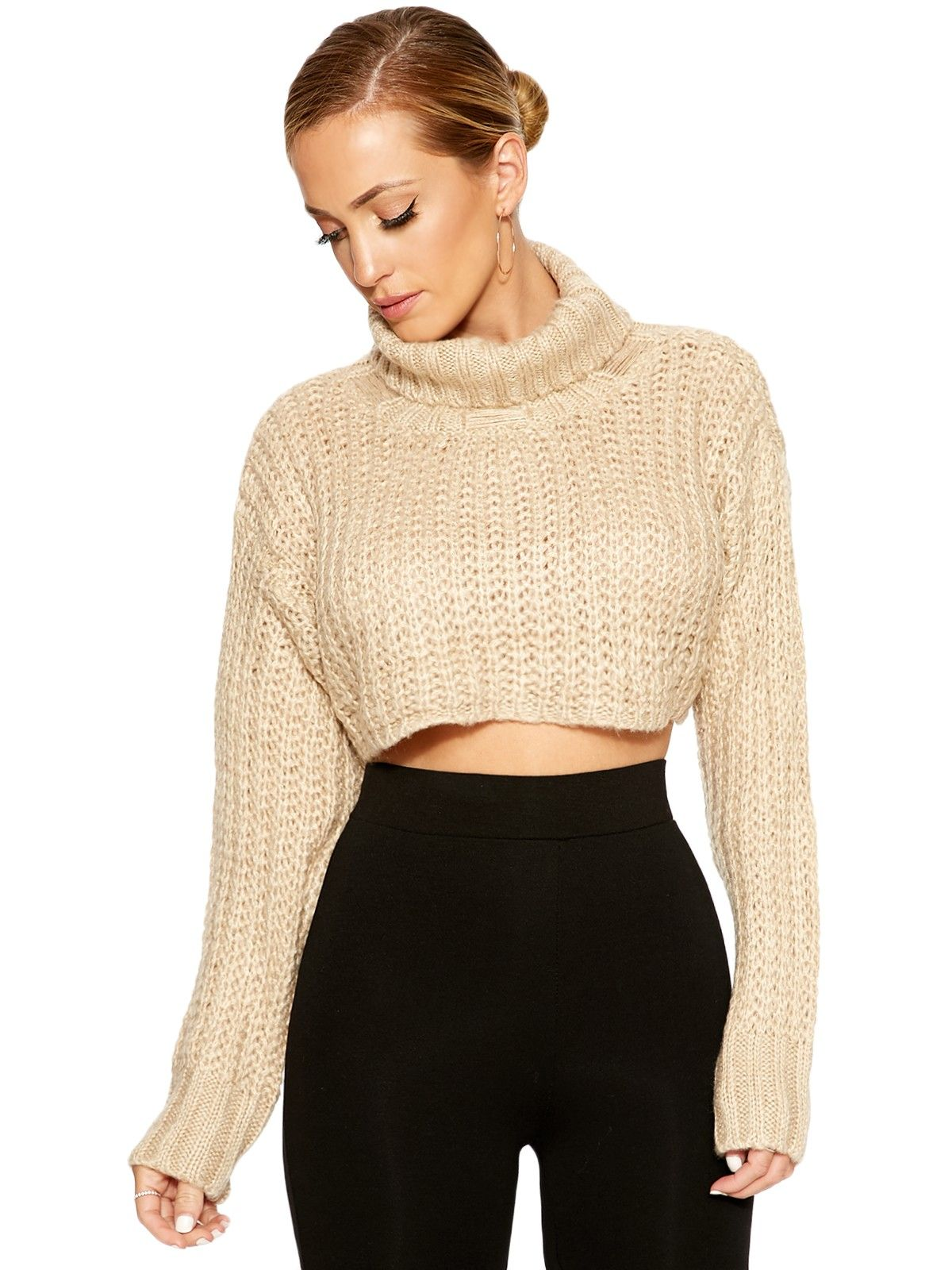 Up To My Neck Cropped Sweater - We got the beautiful cozy goods  ...