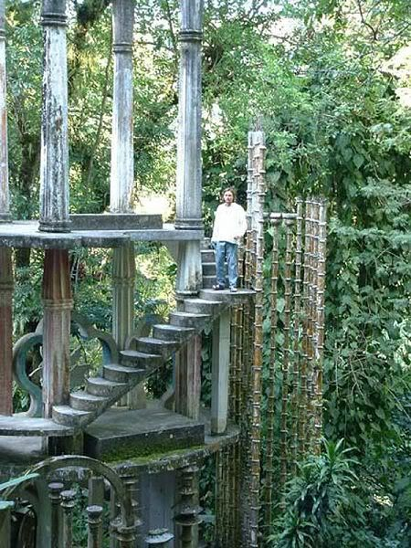 Las Pozas (The Pools) Mexico.  A sculpture garden in a tropical rain forest in Mexico.  Built at over 2000 feet elevation in the mountains, the site includes more than 80 acres of natural pools and waterfalls interspersed with Edward James' concrete sculptures.
