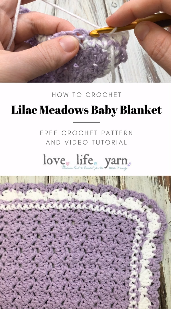 Photo of How to Crochet the Lilac Meadows Baby Blanket