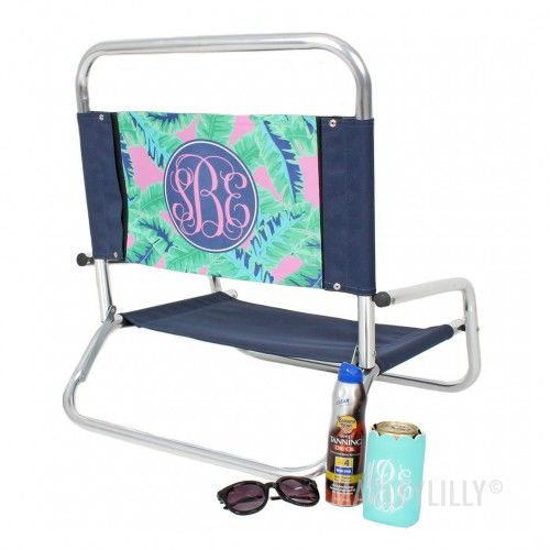 personalized beach chairs. Monogrammed Beach Chairs | Marleylilly Personalized