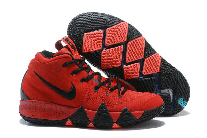 new product d4229 ed8bf Official Nike Kyrie 4 University Red Black Kyrie Irving Basketball Shoe For  Sale