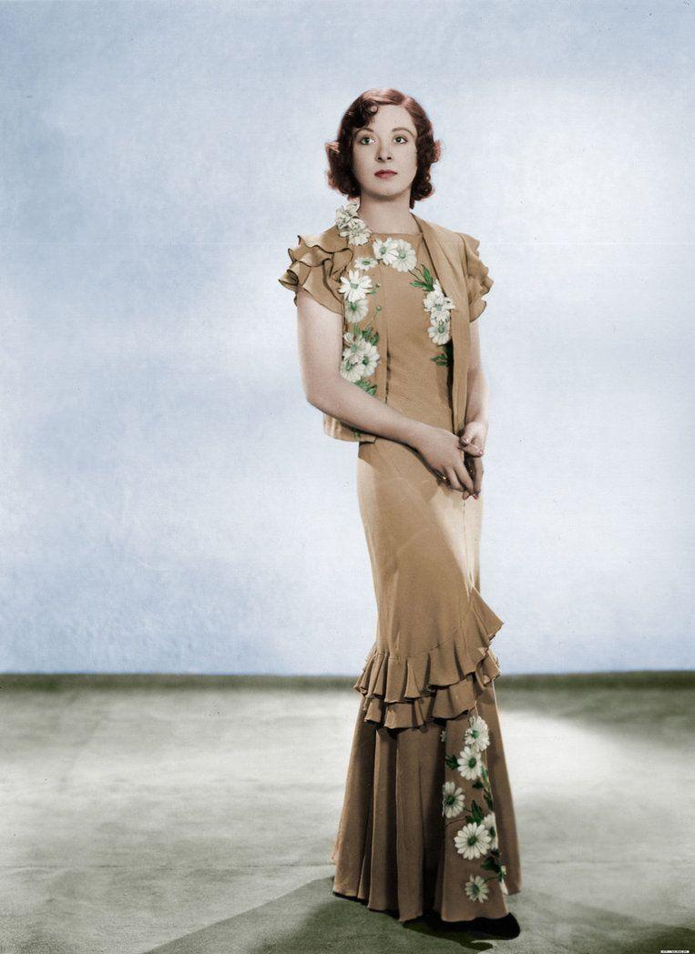 Greer Garson. (Colorized Photo).