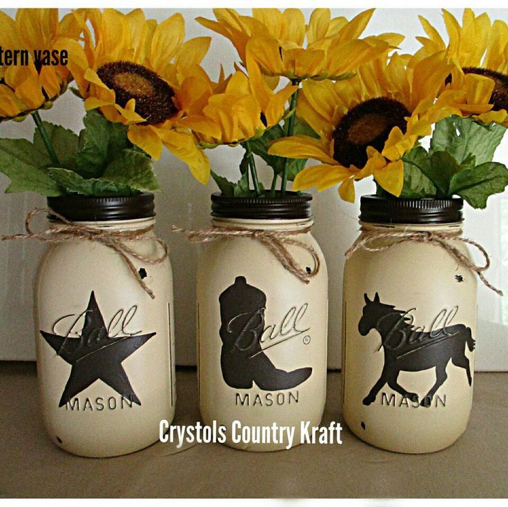 Western vases, great for centerpieces for your home, wedding, party, quart size ...