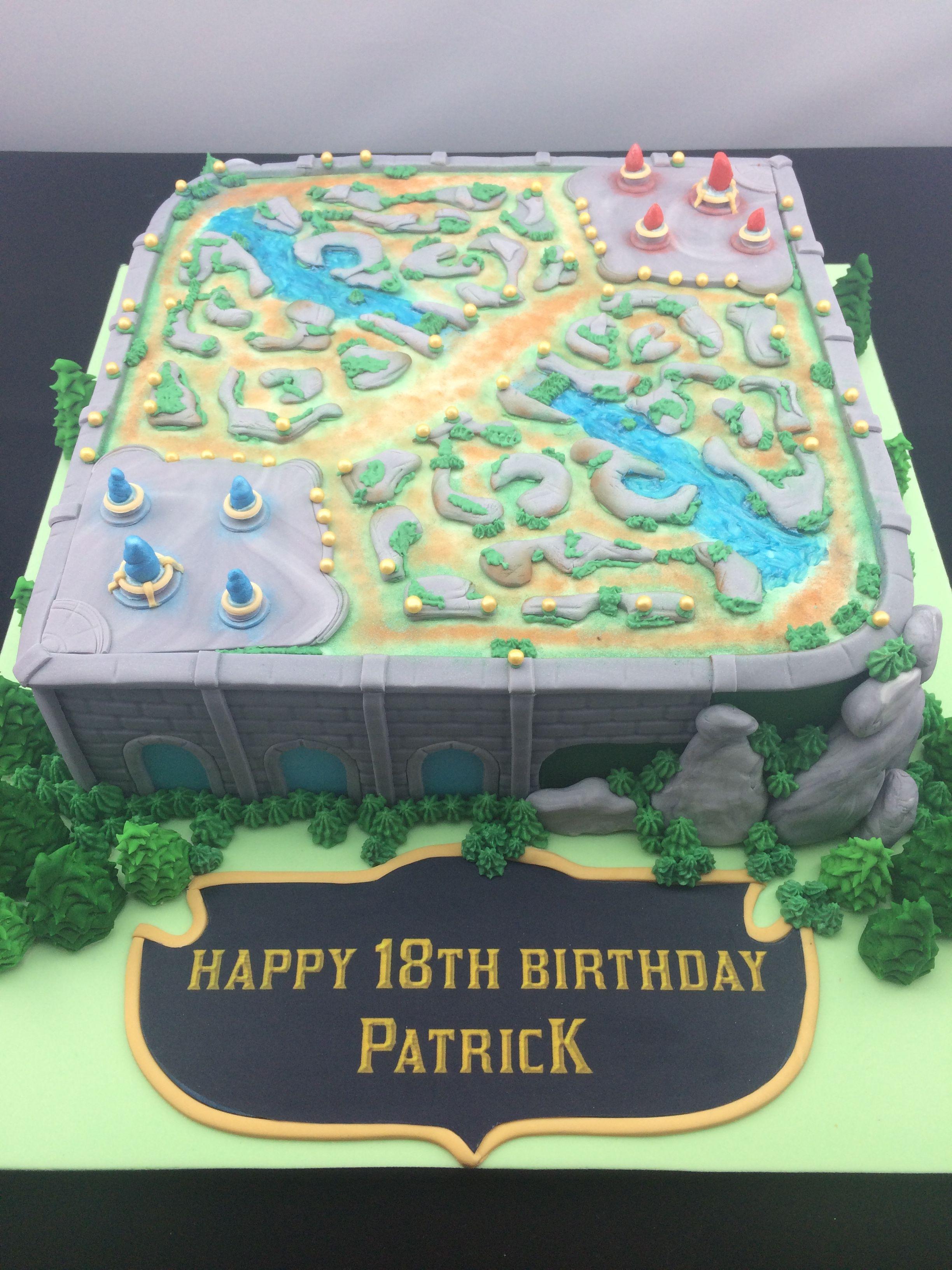League Of Legends Summoners Rift Cake Baking