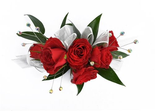 Elegant Red Rose Corsage by Something New Florist in Canfield, Ohio #somethingnew #somethingnewflorist #ohio #youngstown #canfield #boardman #floral #florals #florist #nosegay #bouquet #corsage #roses #homecoming #hoco #hoco15 #prom