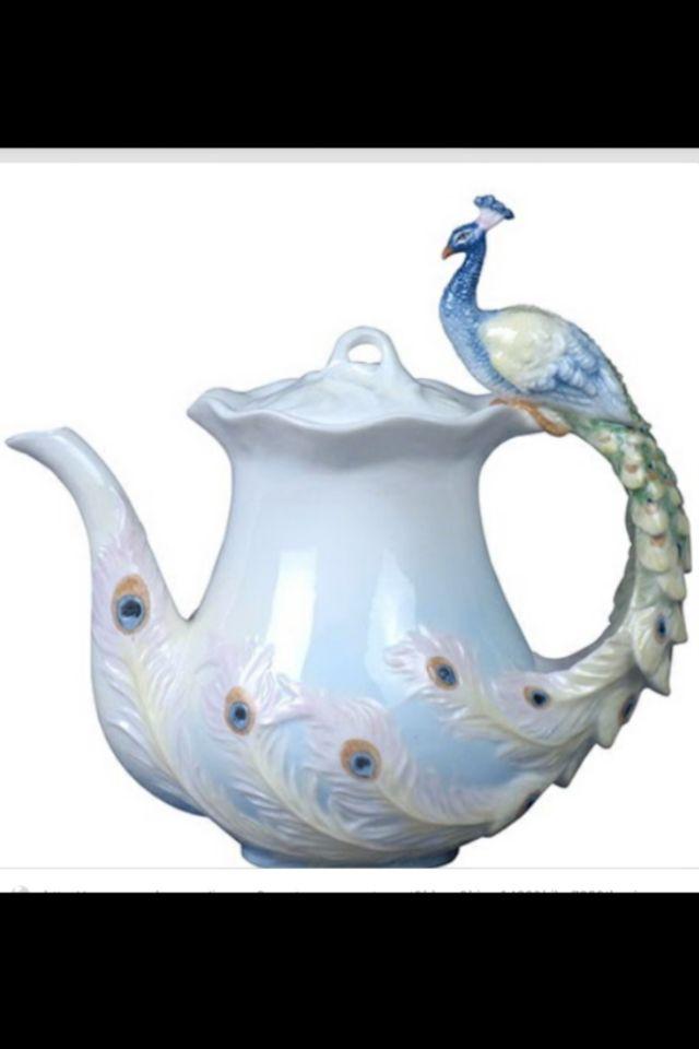 Peacock Tea Pot Tea Pots Tea Teapots Unique