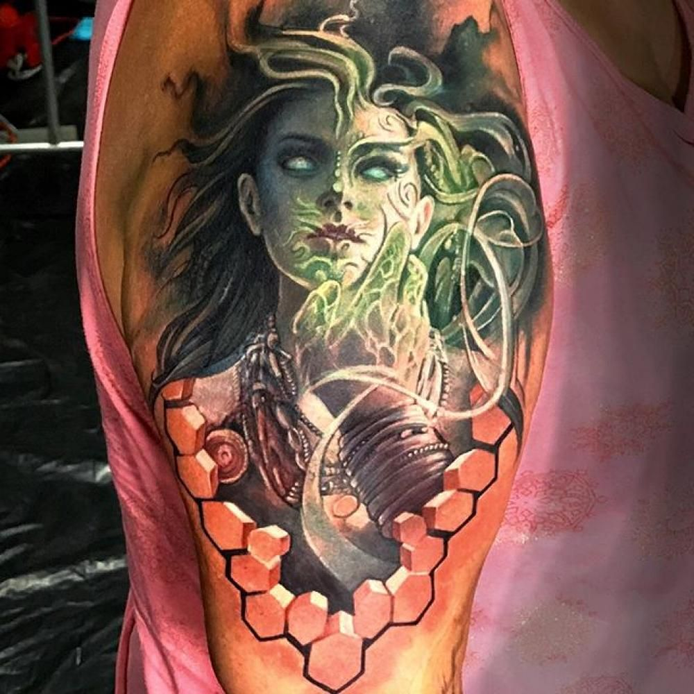 Ezequiel Samuraii S Black And Grey Realistic Tattoo Tattoo Artists Artist Horror Tattoo