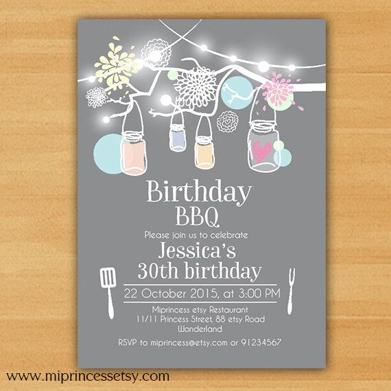 Birthday party invitation birthday bbq backyardkids adult 1st 2nd birthday party invitation birthday bbq backyardkids adult 1st 2nd 3rd 4th 5ht 6th stopboris Image collections