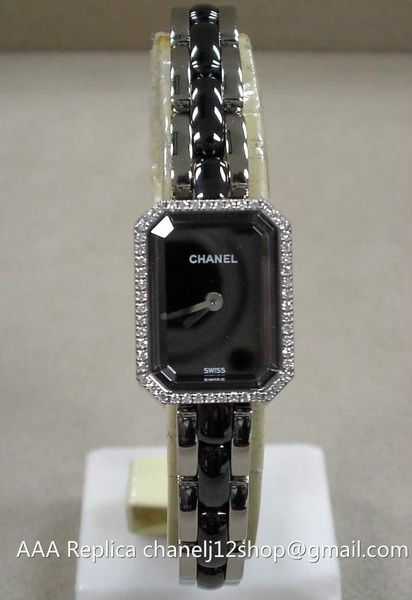 64b3bd74 Chanel Premiere Black Ceramic Diamonds Ladies Watch H2163 usd297 by ...