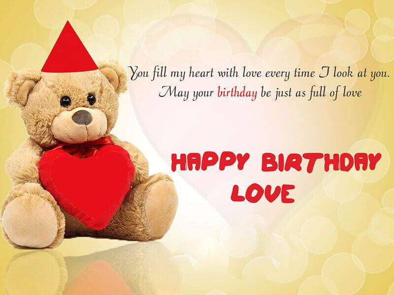 Happy Birthday Romantic Wishes For Girlfriend Cards