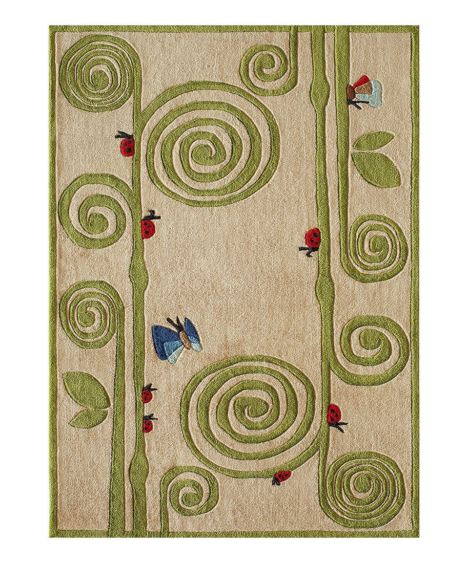 Look What I Found On Zulily Ivory Curly Fern Rug By Lil