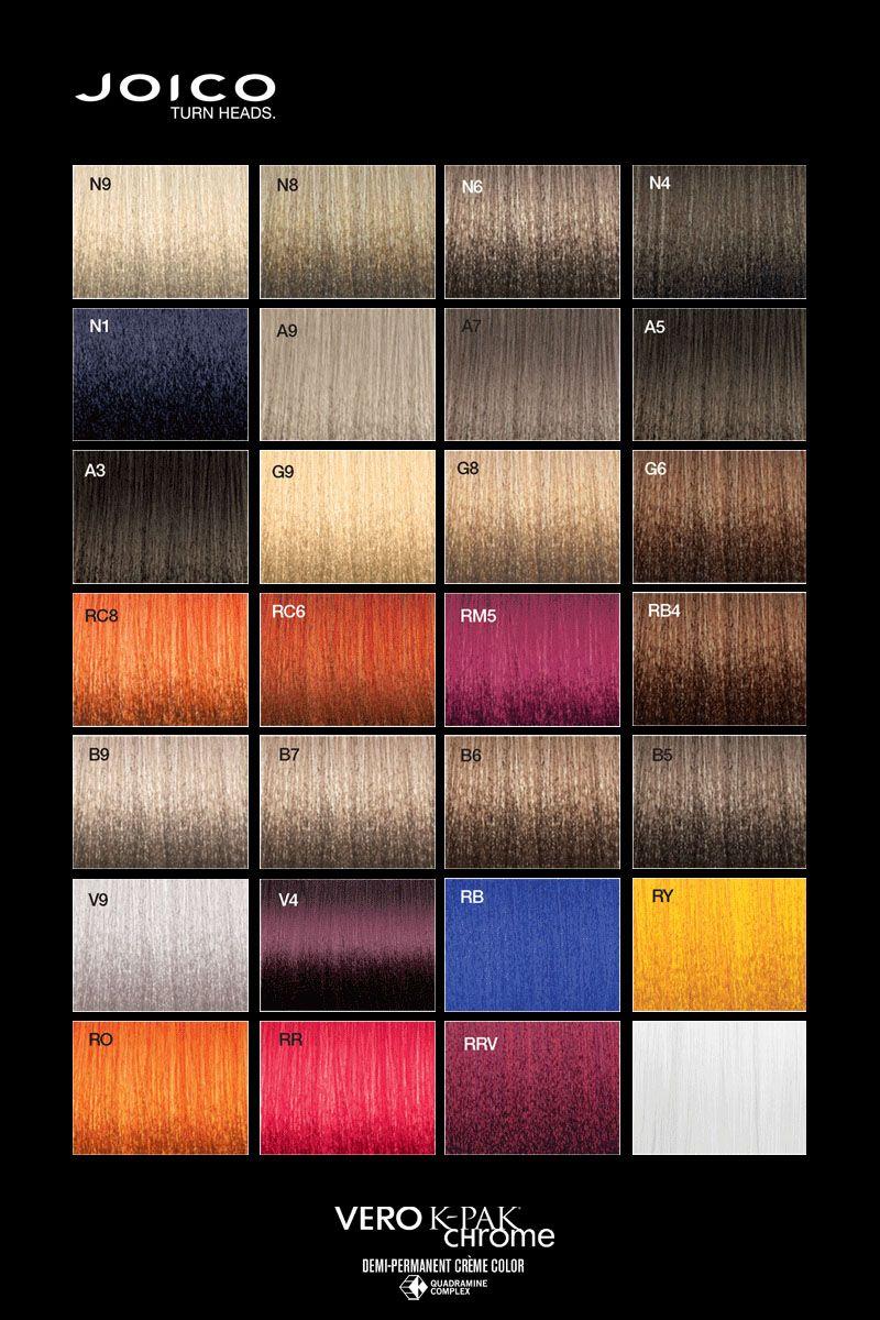 Joico Vero K Pak Chrome Colour Palette Joico Hair Color Hair