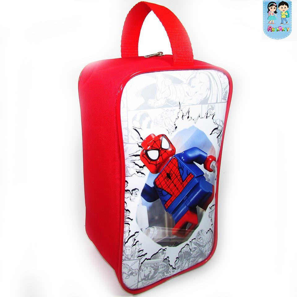 5c9ea01e13 Porta Chuteira Personalizada Tema Homem Aranha lego