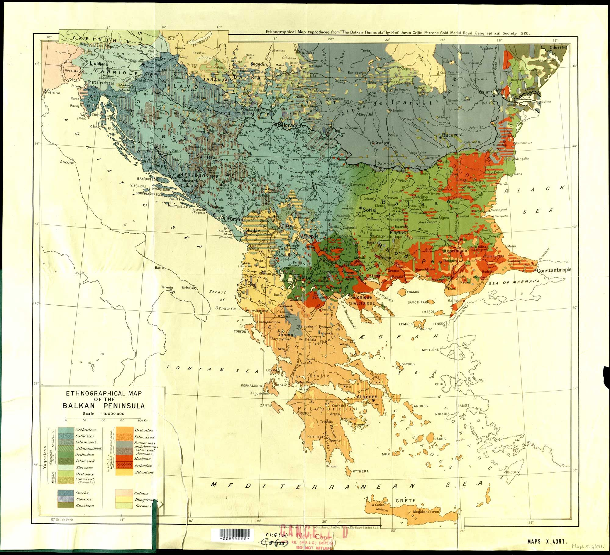Ethnographical map of the balkans showing religious and ethnic vsledok vyhadvania obrzkov pre dopyt ethnic map of eastern europe gumiabroncs Image collections