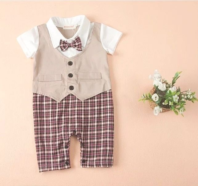 bba3b45f5 Awesome Gentleman Baby Rompers Baby Pajamas