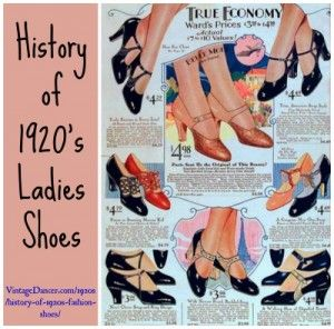 History of 1920s Fashion: Shoes (Plus Make Your Own Shoes)  http://www.vintagedancer.com/1920s/history-of-1920s-fashion-shoes/