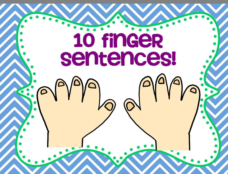 10 Finger Sentences A Speaking Activity